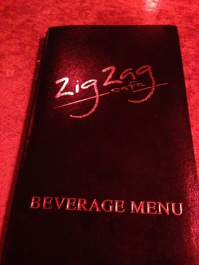 Zig Zag Cafe Happy Hour Menu