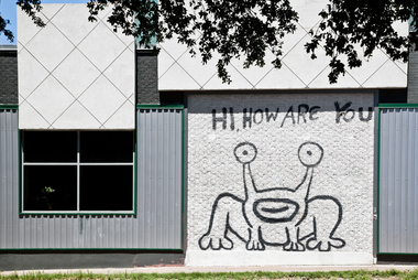 Hi how are you in austin tx 78705 citysearch for Austin frog mural